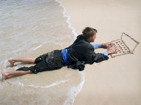 freelancer on the beach